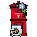 夏のポスト型はがき(きんぎょ)、郵便局の一筆箋(夏)、 郵便局のシール(夏)、郵便局のポストカード(夏) 発売のお知らせ
