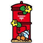 郵便局の一筆箋(夏)、郵便局のオリジナルシール(夏)、夏のポスト型はがき(ヤドカリ) 発売のお知らせ